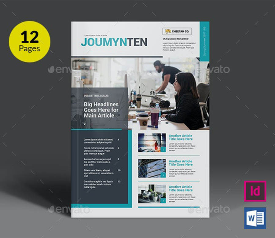 New Multipurpose InDesign Newsletter Templates