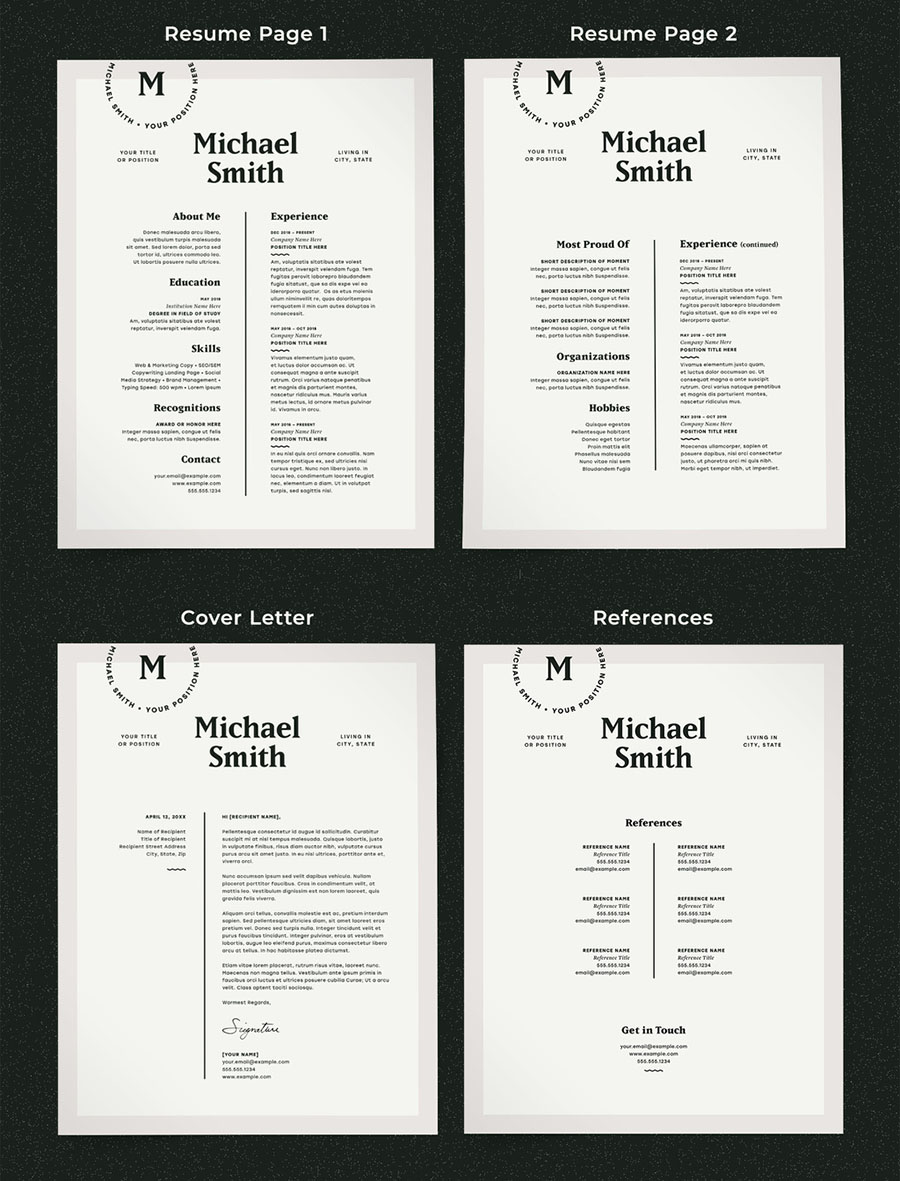 Modern Resume Layout Kit