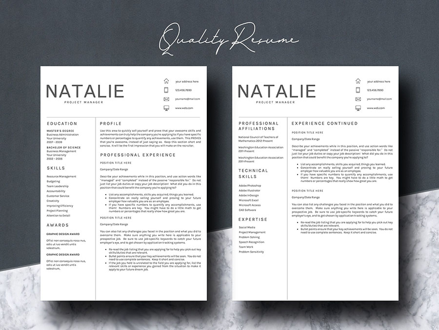 Resume Template 5 Pages/CV