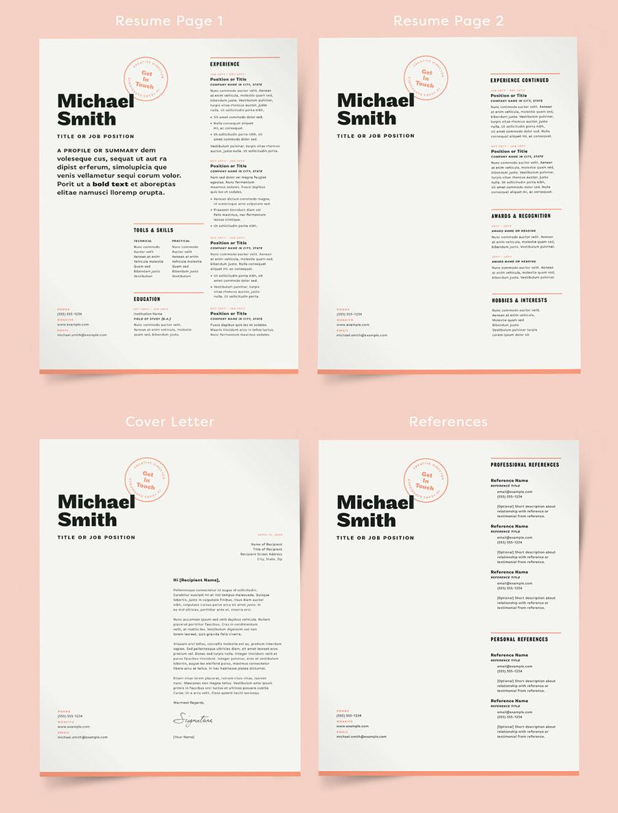 Magazine Style Resume Layout