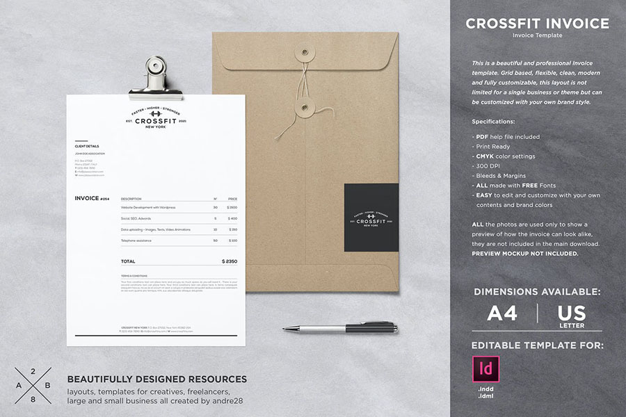 Crossfit Invoice Template