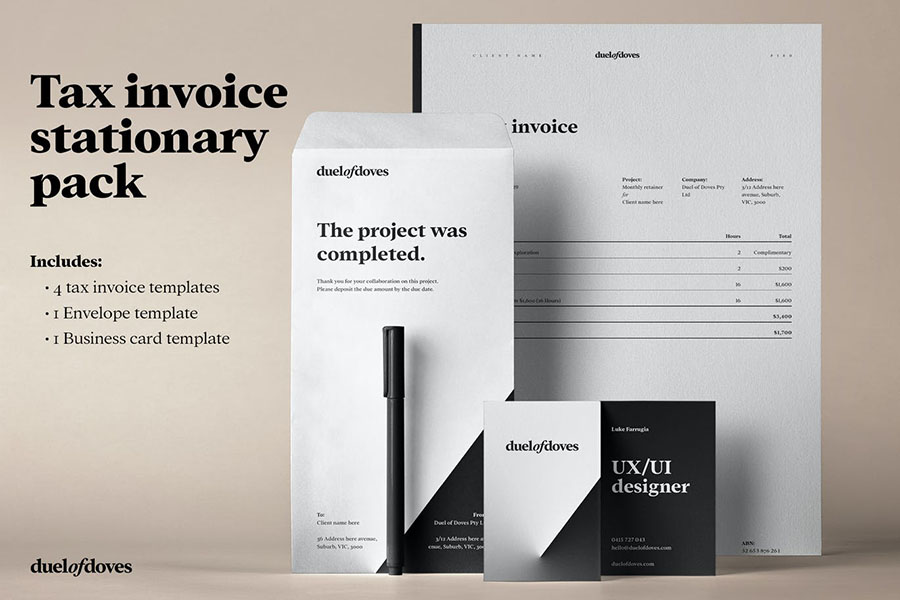 Tax Invoice Stationary Pack - vol. 1