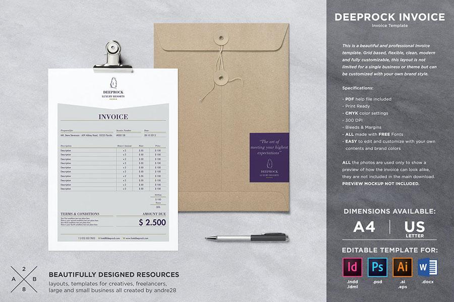 Deeprock Invoice Template