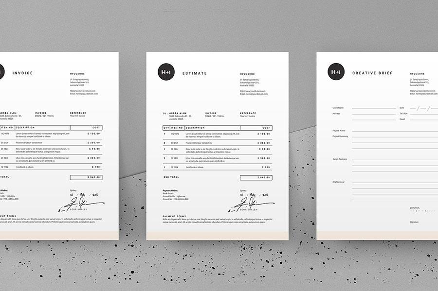 Invoice + Estimate + Brief