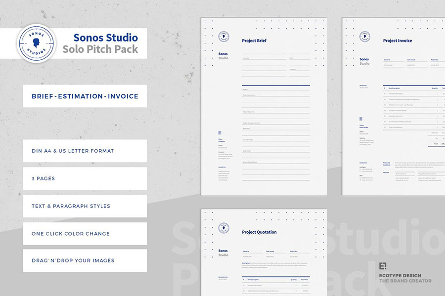 Solo Pitch Pack (Brief - Estimation - Invoice)
