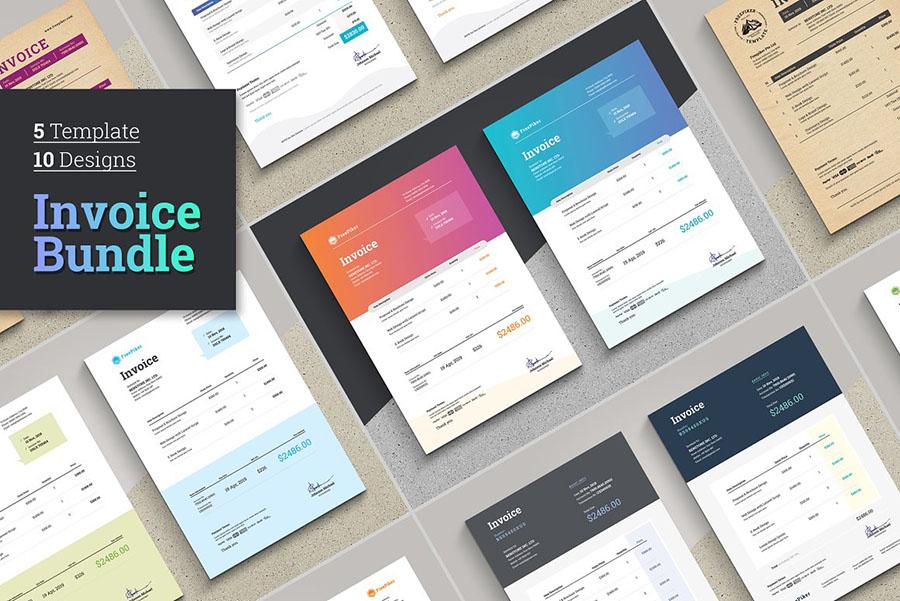 Minimalist Excel Invoice Bundle