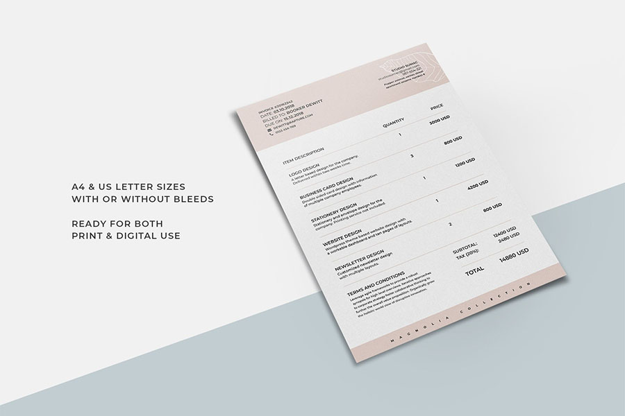 Magnolia Invoice Template