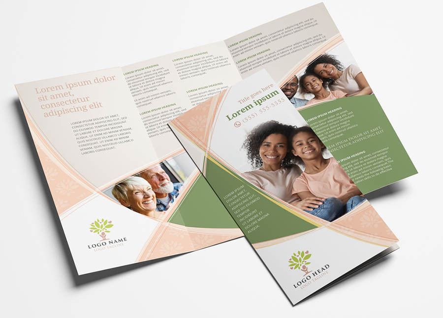 Trifold Brochure Leaflet with Charity Non Profit Theme