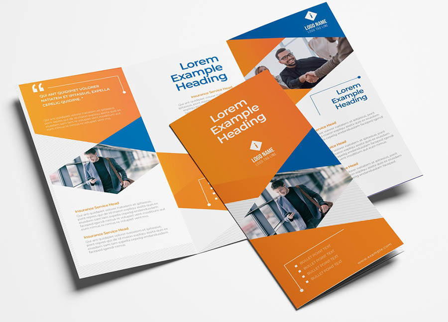 Business Trifold Leaflet with Modern Corporate Style