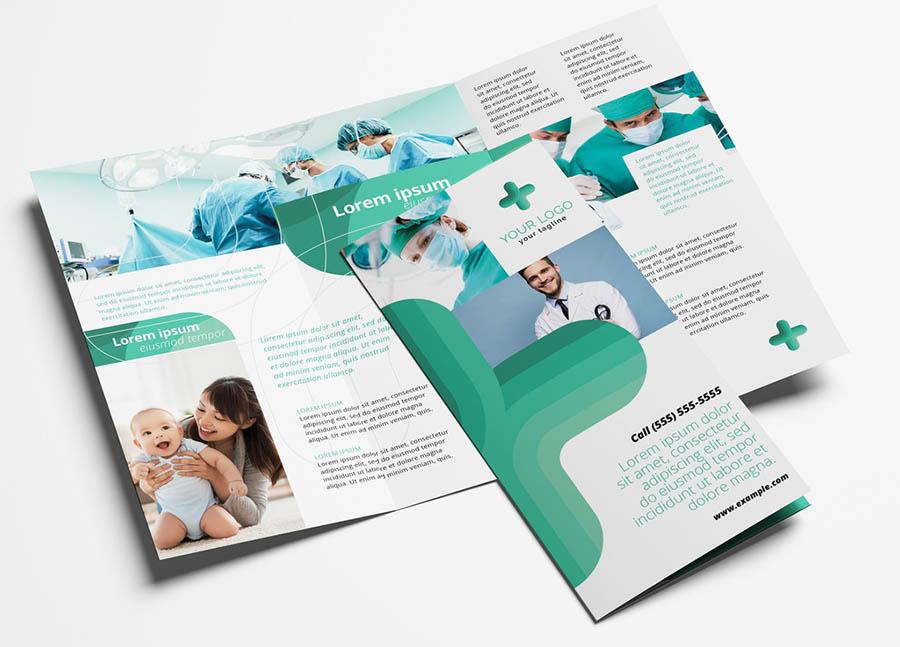 Modern Hospital Trifold Brochure for Medical Services