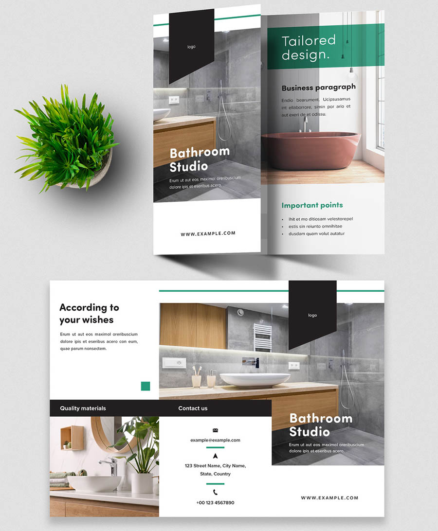 Modern Trifold Brochure Layout