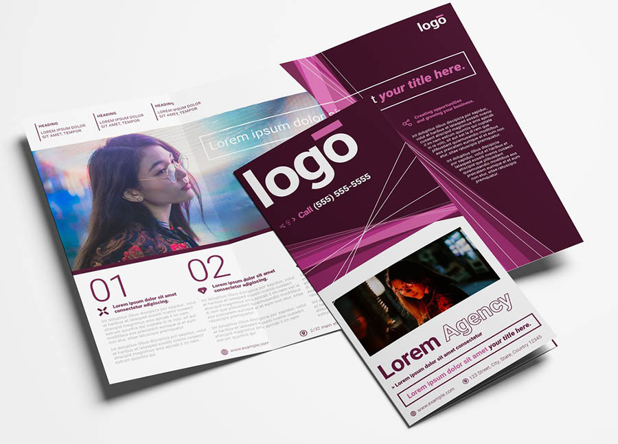 Multipurpose Trifold Brochure with Creative Layout
