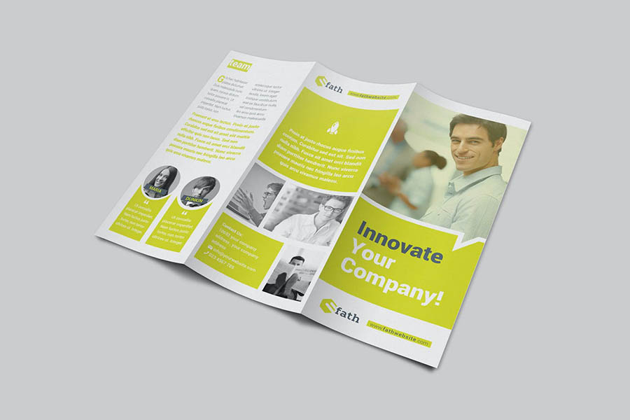 Corporate Trifold Brochure Templates for InDesign