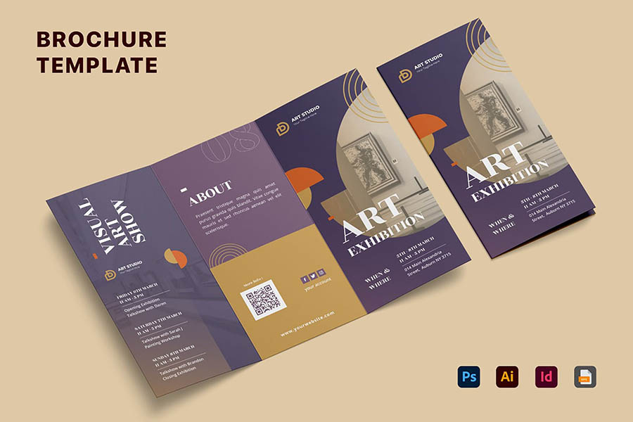 Brochure Trifold Templates for InDesign