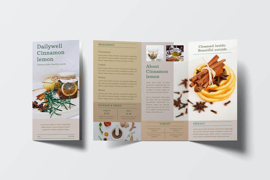 Herbal Beverage Trifold Brochure