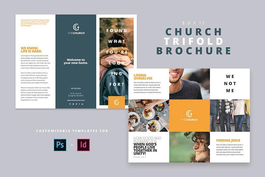 Modern Church Trifold Brochure