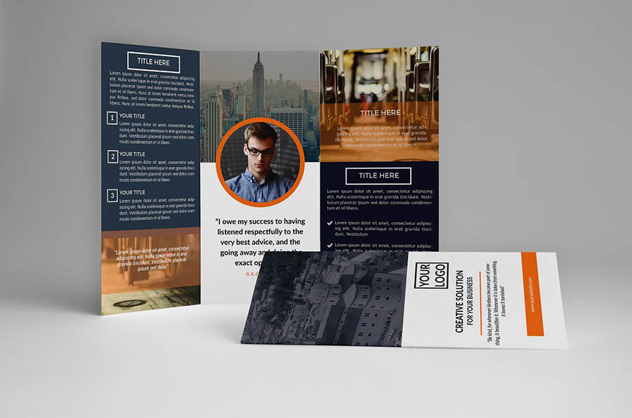 Biru Trifold Brochure