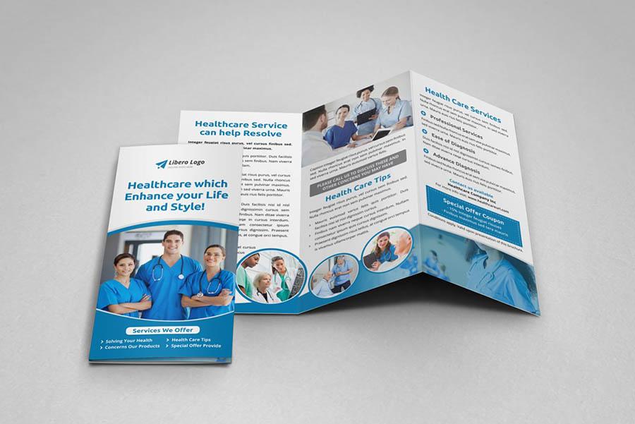 Medical Healthcare Trifold Brochure