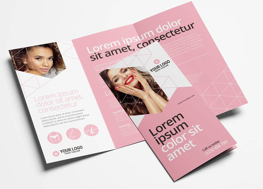 Trifold Brochure for Cosmetic Services & Beauty Spas