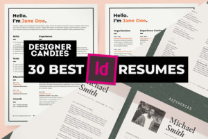 Best InDesign INDD Resume Templates