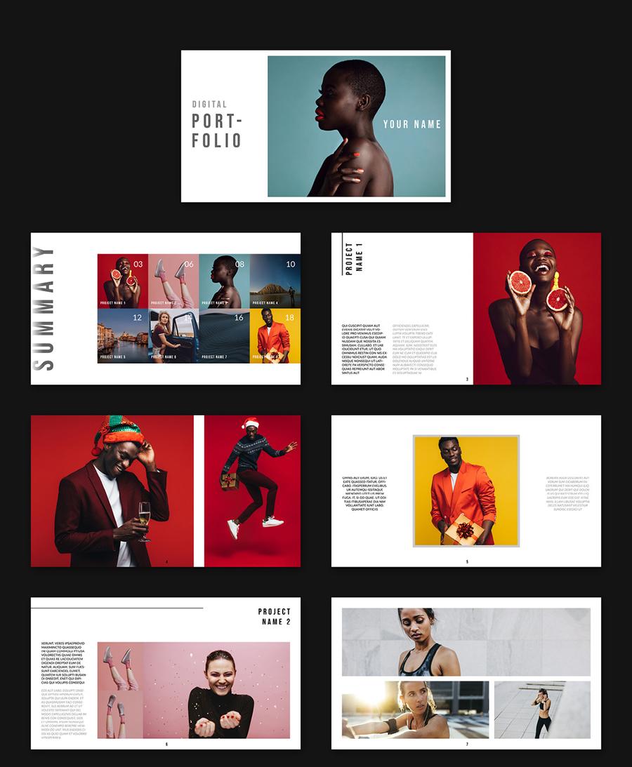 Digital Portfolio Layout