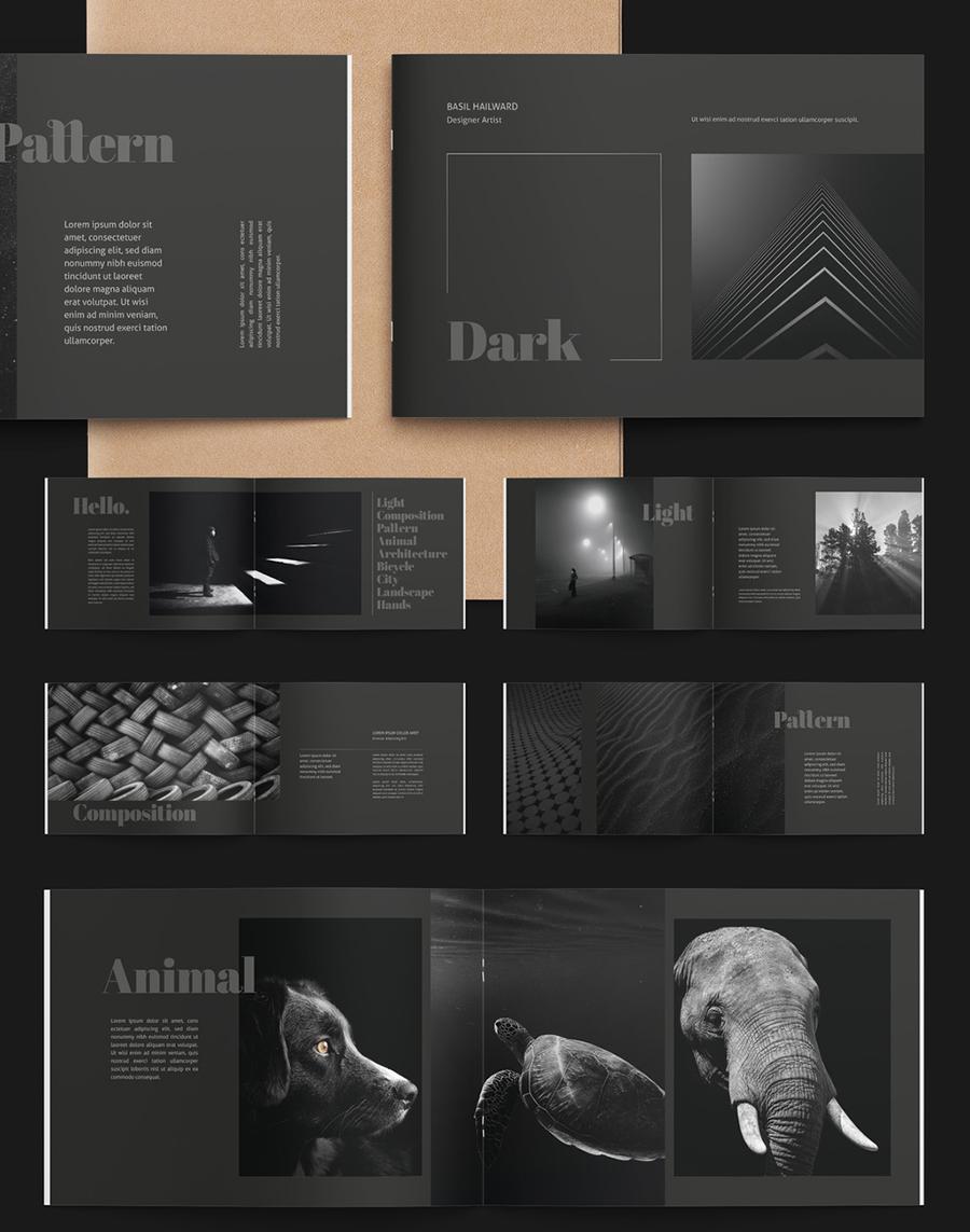 Black Portfolio Layout