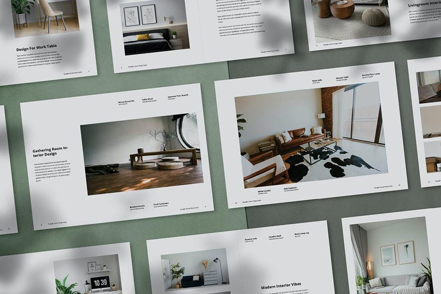 Tranquil Interior Design Portfolio Template