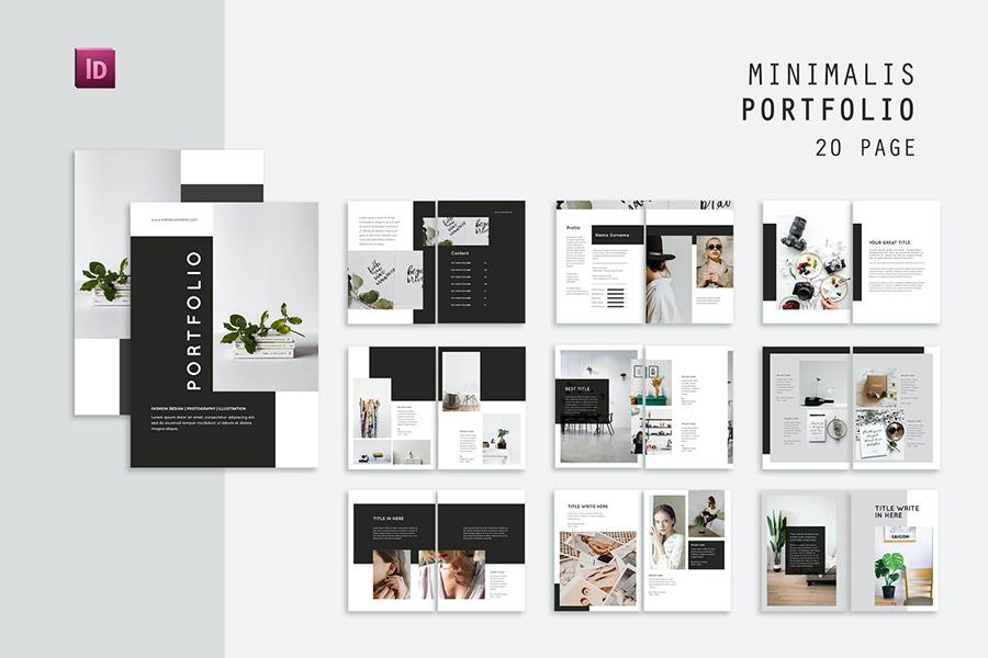 Minimal InDesign Portfolio Template