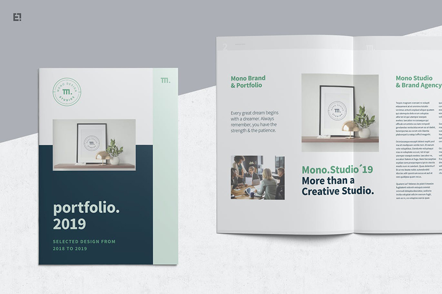 Simple Portfolio Template with Mint Green Accent