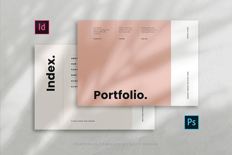 Professional graphic designer portfolio template