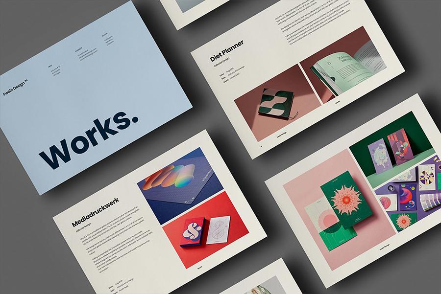 Works InDesign Portfolio Template