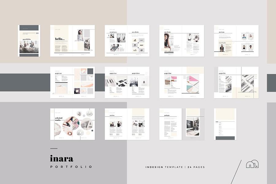 Inara InDesign Portfolio Template