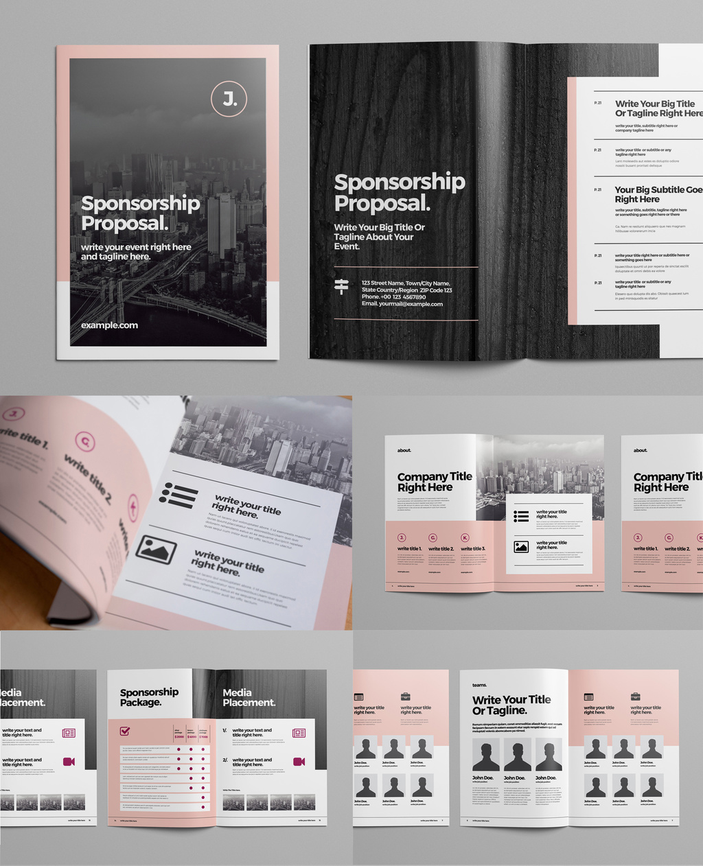 Business Proposal Brochure Layout