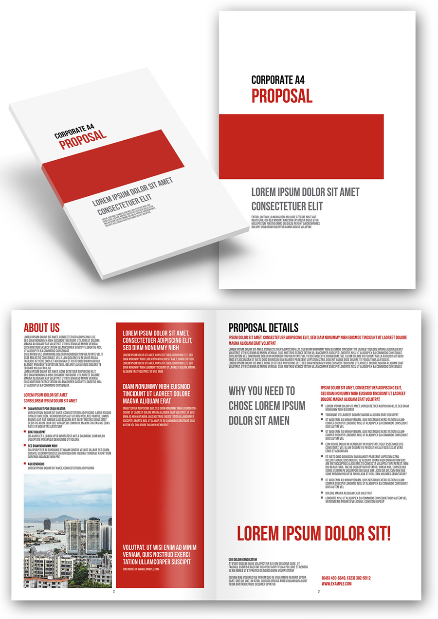 Corporate Proposal with Red Accents