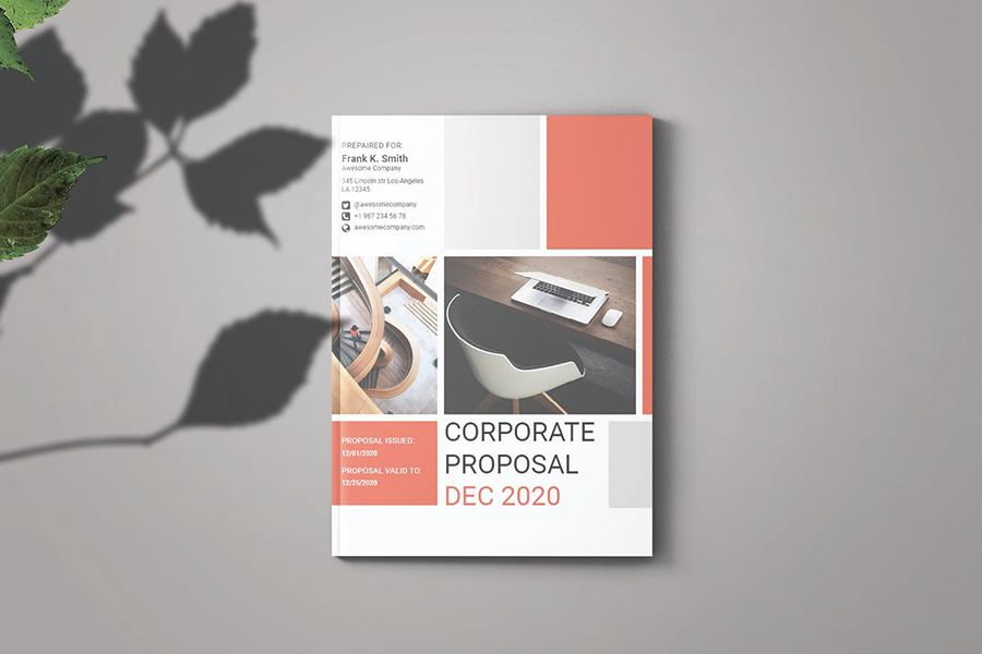 Proposal Template with Peach Accent