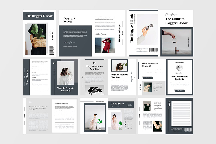 Minimalist eBook InDesign eBook templates