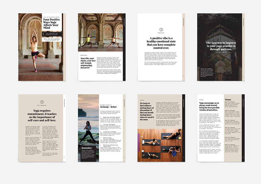 Yoga Modern eBook Template
