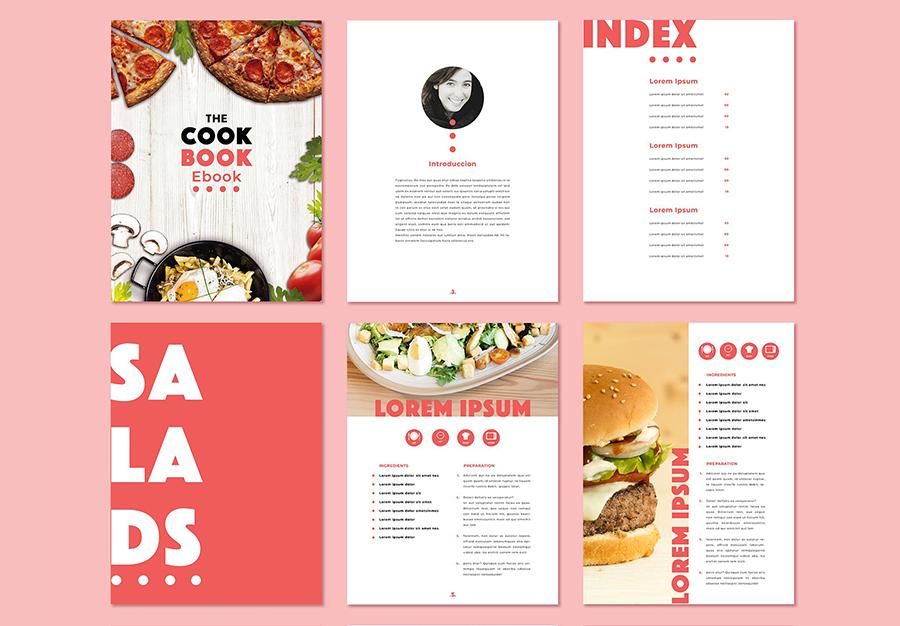 Peach Color Recipes eBook Layout
