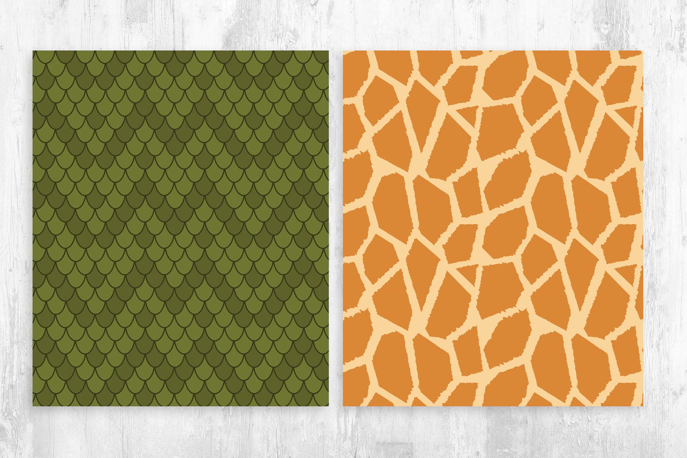 Lizard & Giraffe Skin Pattern for Photoshop & Illustrator