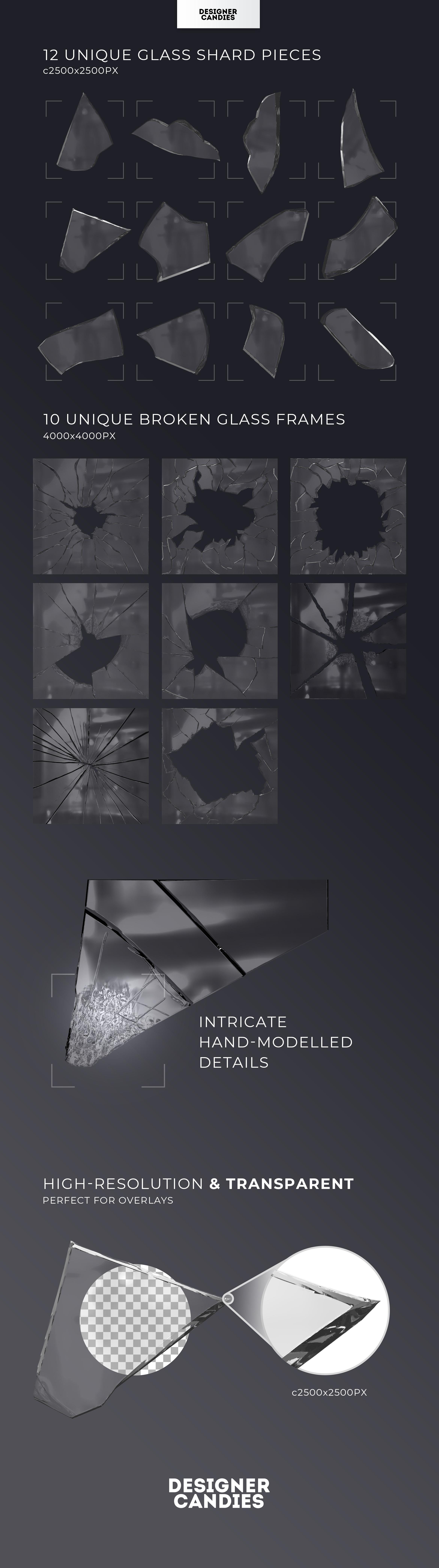 PNG Glass Shard Overlays