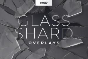 Transparent Glass Shard PNG Overlays