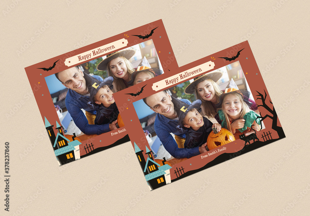 Halloween Photo Booth Card Layout