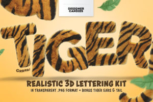 Tiger Text 3D Lettering Pack