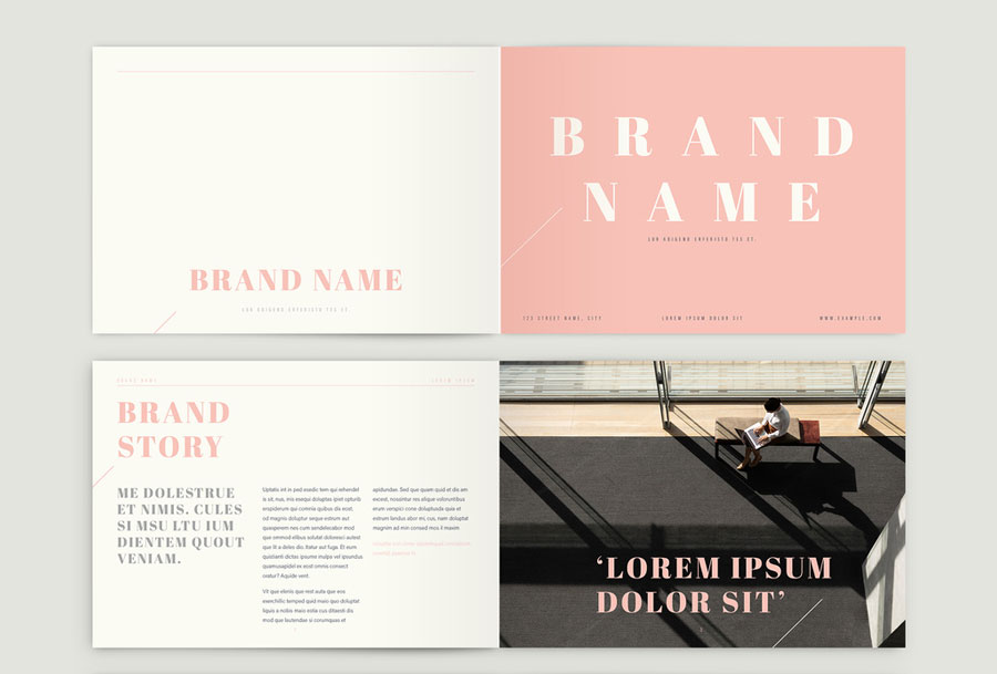 . Brand Guidelines Book with Pink Accents