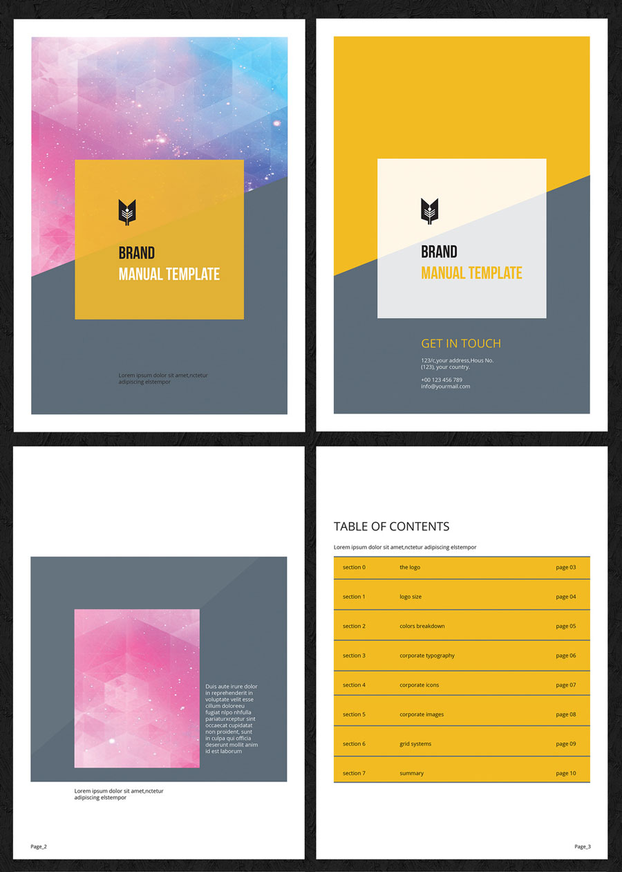 Branding Guide Layout with Yellow Accents 1