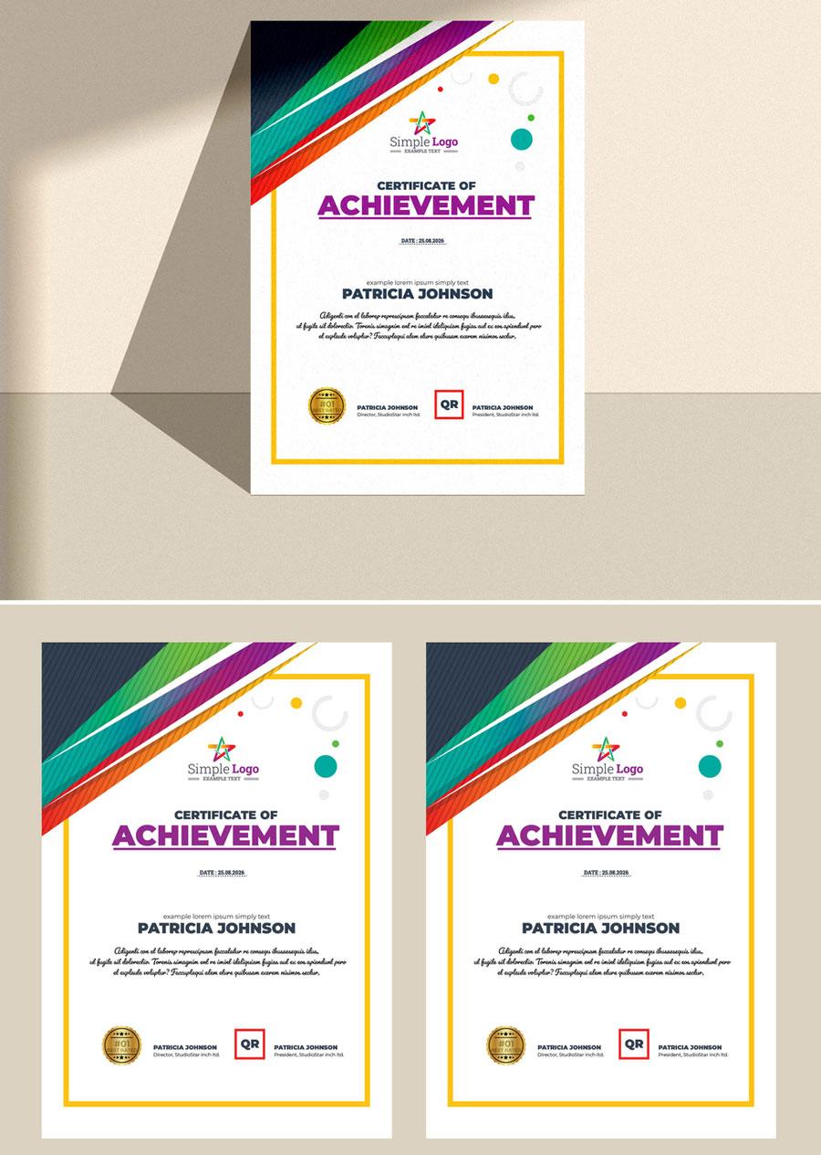 Creative Certificate Layout