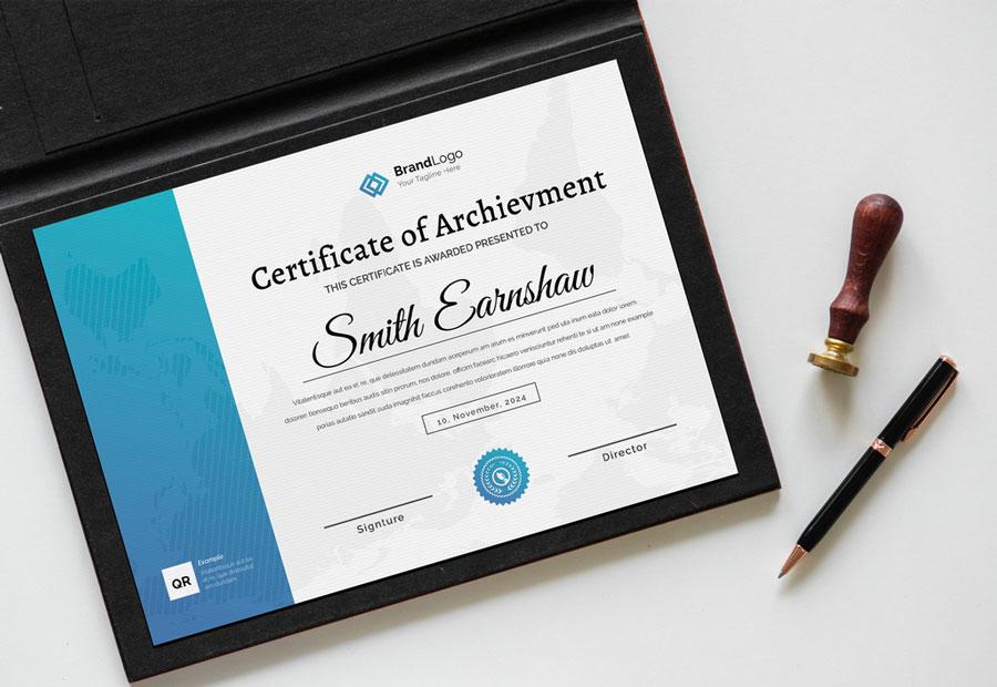 Cyan Certificate Layout