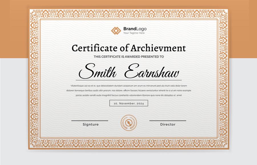 Elegant Certificate Layout