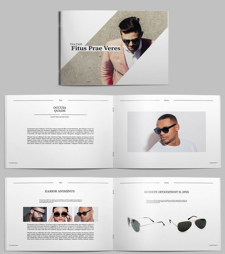 Fashion Lookbook Layout