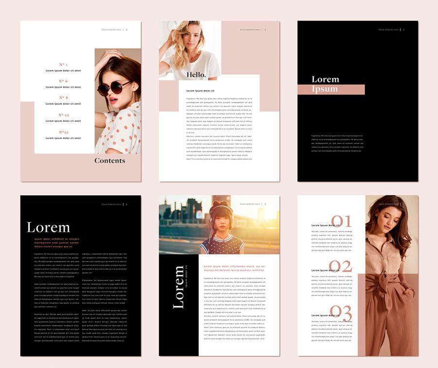 Fashion Style Photobook Digital Brochure Layout